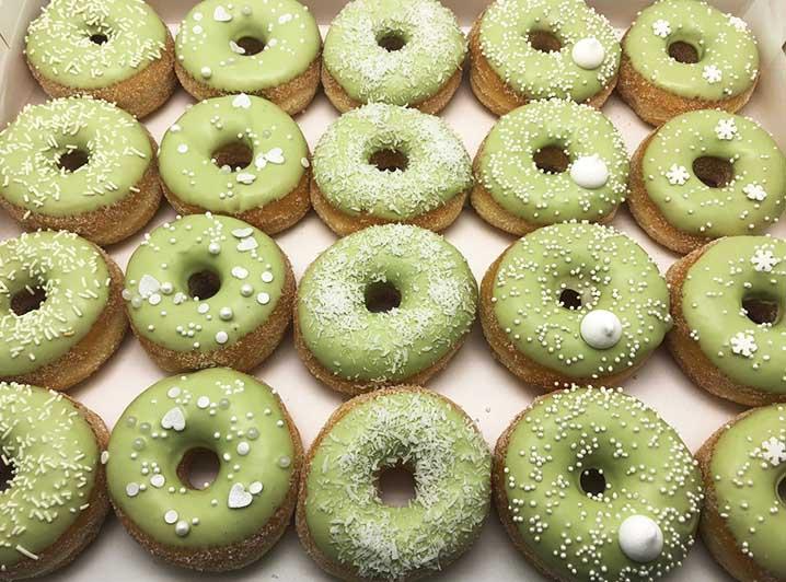 Mint Mini Donut box - JJ Donuts