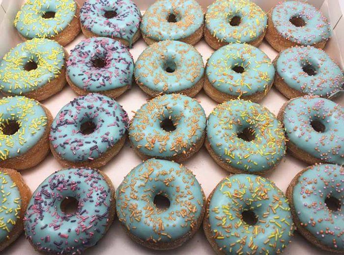 Pastel Galerij Mini Donut box blauw - JJ Donuts
