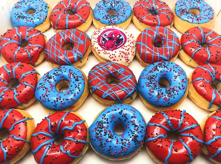 Spiderman Mini Donut box 2020 - JJ Donuts