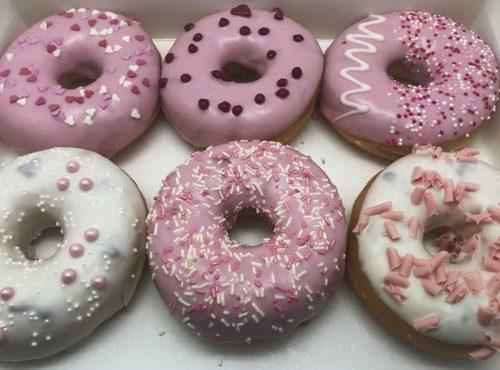 Pastel Pink Donut box - JJ Donuts