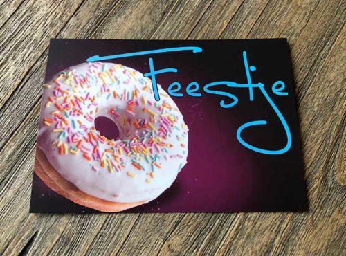 JJ Donuts - donut wenskaarten - wenskaart feestje
