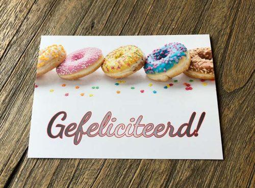 JJ Donuts - donut wenskaarten - wenskaart gefeliciteerd