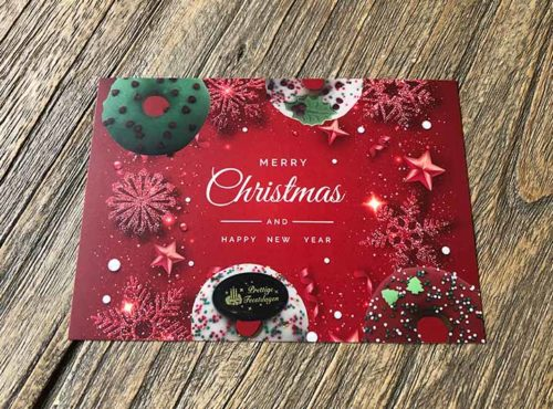 JJ Donuts - donut wenskaarten - wenskaart merry christmas