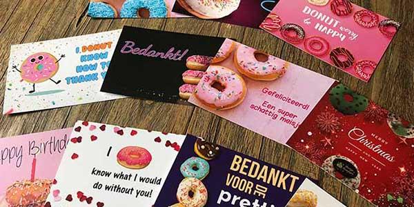 JJ Donuts - winkelmand - voeg een wenskaart toe