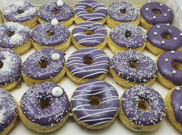 Pimpel Paars Mini Donut box - JJ Donuts