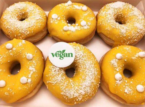 Vegan Donut box Limoncello met logo - JJ Donuts
