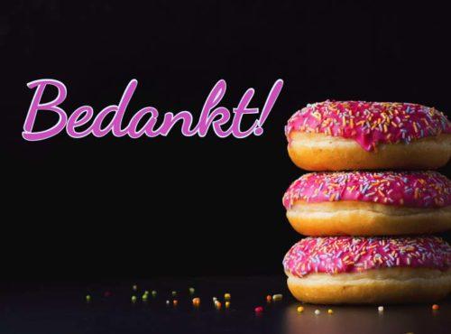 Wenskaart Bedankt - JJ Donuts