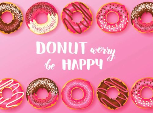 Wenskaart Donut Worry Be Happy - JJ Donuts