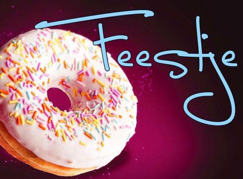 Wenskaart Feestje - JJ Donuts