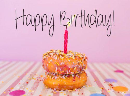 Wenskaart Happy Birthday - JJ Donuts