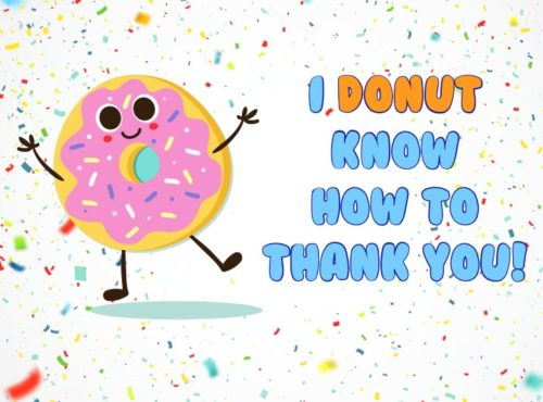 Wenskaart I Donut know how to thank you - JJ Donuts