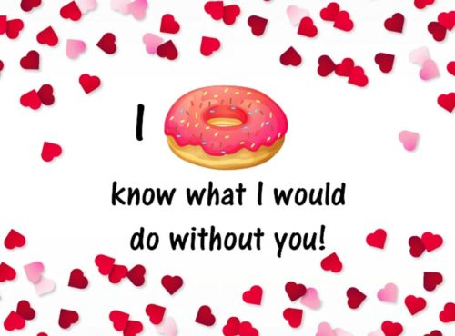 Wenskaart I Donut know what i would do without you - JJ Donuts