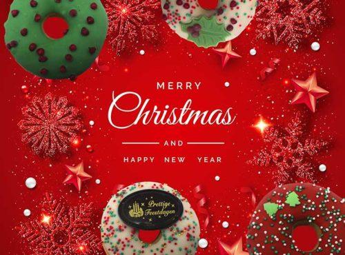 Wenskaart Merry Christmas - JJ Donuts