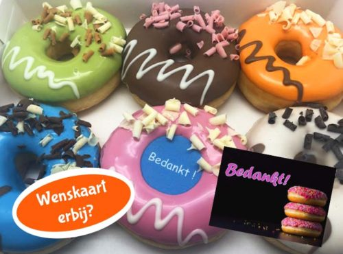 Donutbox met kaartje