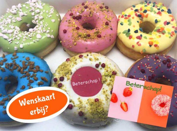 Beterschap Donut box met wenskaart 2020 - JJ Donuts