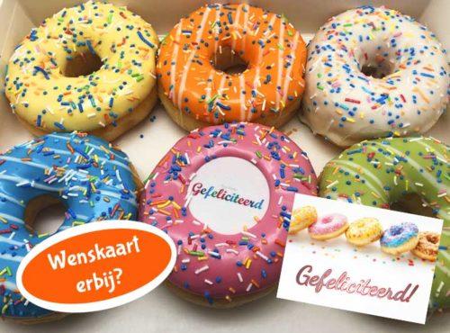 Gefeliciteerd Donut box met wenskaart - JJ Donuts