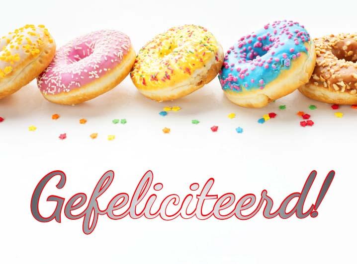 JJ Donuts - gefeliciteerd wenskaart