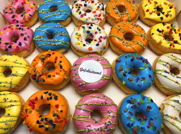 Gefeliciteerd Mini Donut box - JJ Donuts