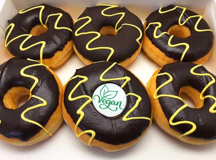Vegan Chocolade Donut box - JJ Donuts