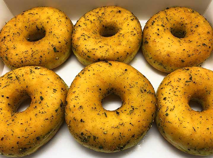 Vegan Green Herbs Donut box - JJ Donuts