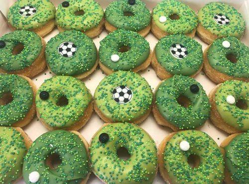 Voetbal Mini Donut box - JJ Donuts