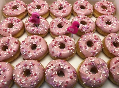 Flamingo Mini Donut box - JJ Donuts