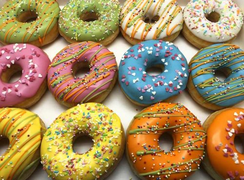 Happy Color Donut box - JJ Donuts