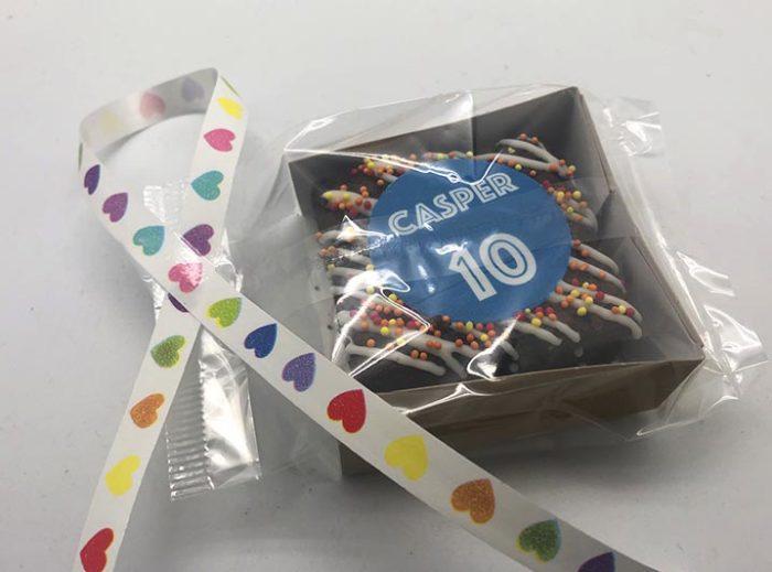 Logo Brownie in feestverpakking - JJ Donuts