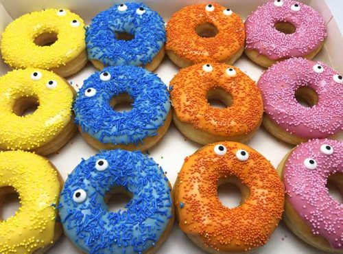 Color Faces Donut box - JJ Donuts