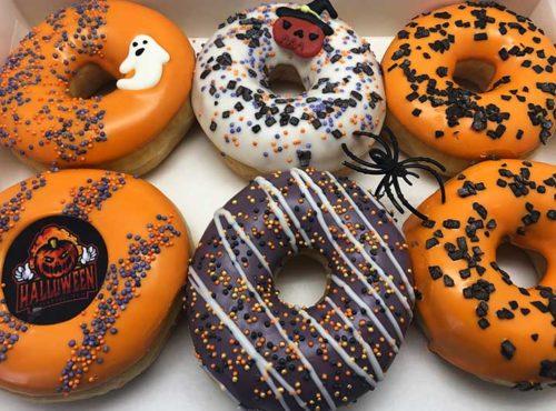 Halloween Logo Donut box - JJ Donuts