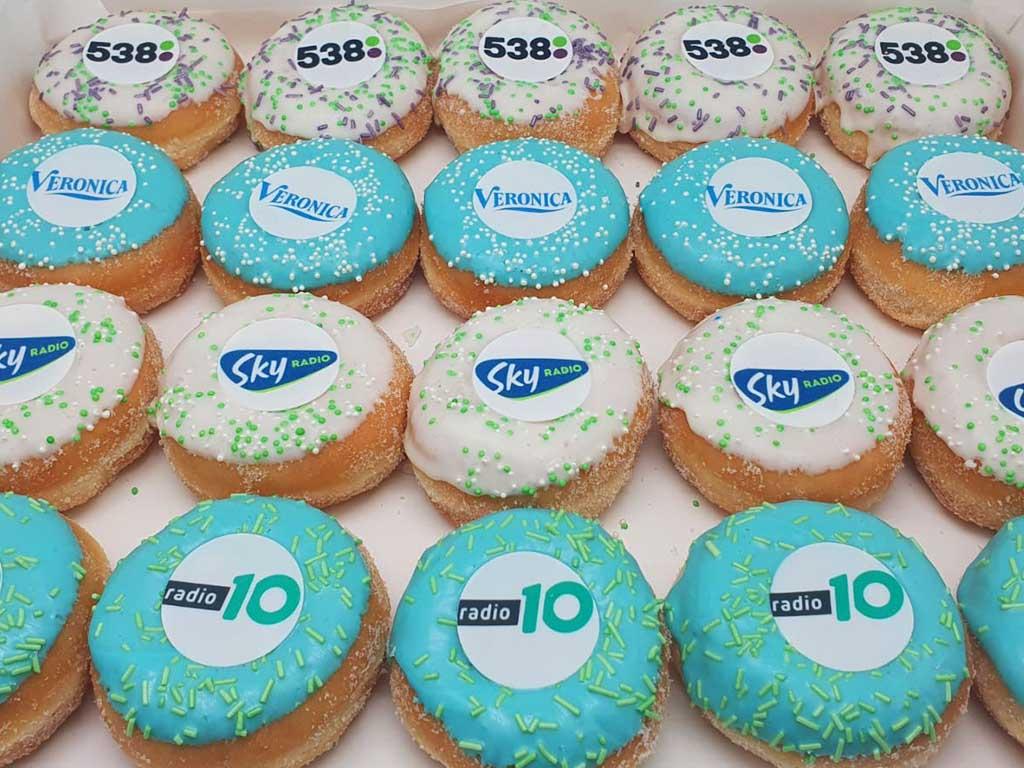 JJ Donuts - zakelijke donuts - inspiratie donutbox - radiozenders