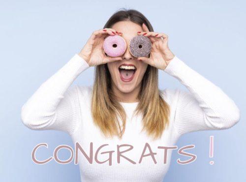 Wenskaart Congrats - JJ Donuts