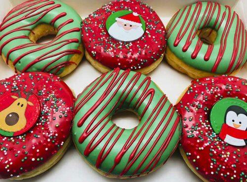 Kerst Choco Munten Donut box - JJ Donuts