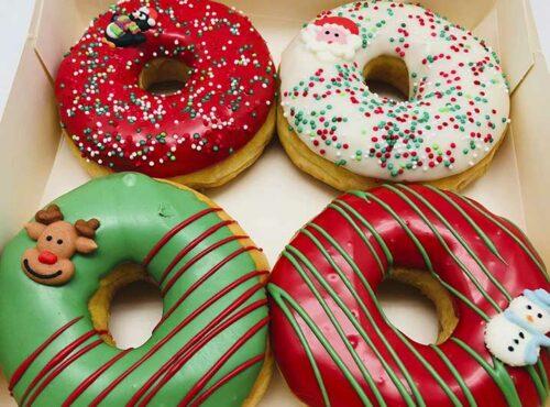 Kerst Familie Donut box - JJ Donuts
