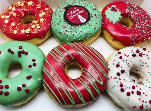 Merry Christmas Donut box 2020 - JJ Donuts