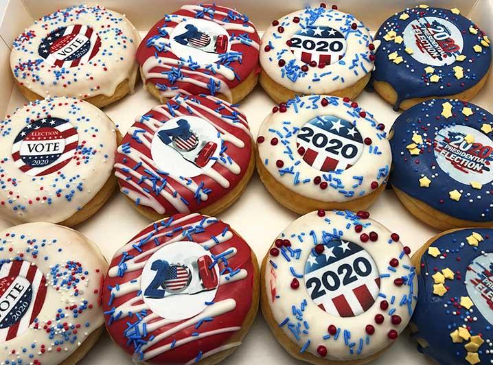 USA Verkiezingen Donut box - JJ Donuts
