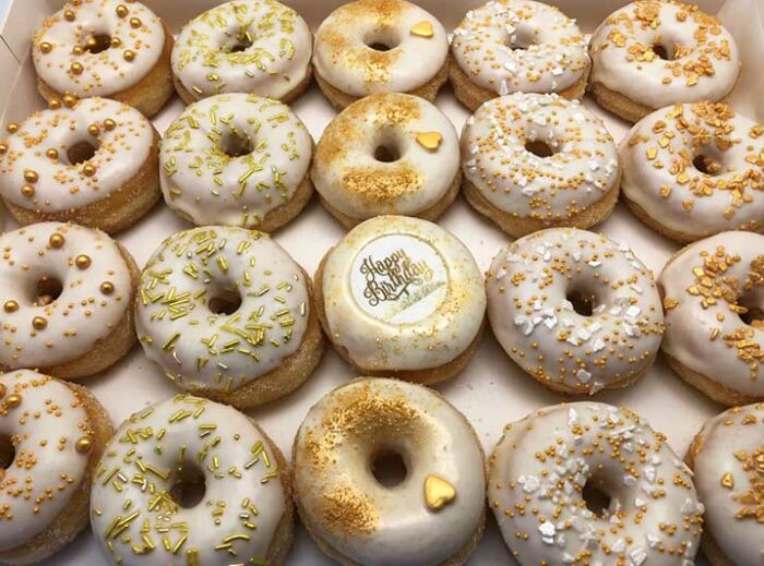 Witgoud Happy Birthday Mini Donut box - JJ Donuts