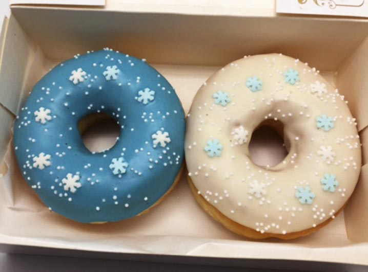Blauw Wit Goud Donut box - JJ Donuts