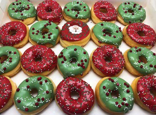 Kerstman Mini Donut box - JJ Donuts