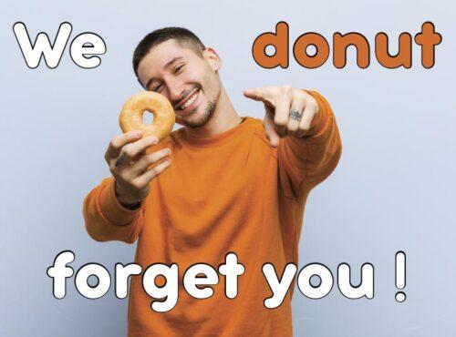 Wenskaart We Donut Forget You - JJ Donuts