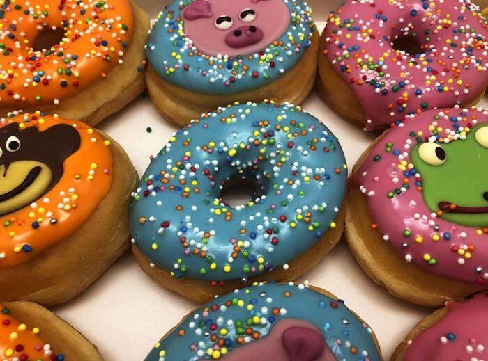 Animal Mini Donut box closeup - JJ Donuts