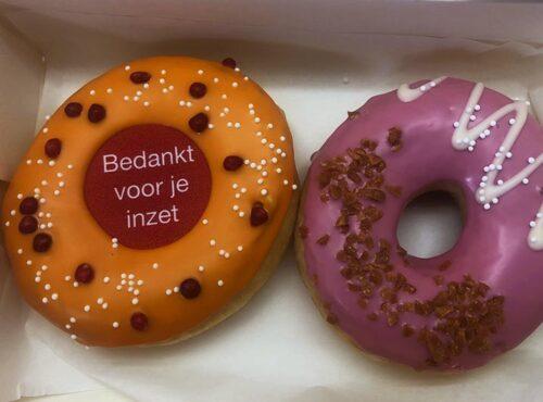 Bedankt Voor Je Inzet Donut box nieuw - JJ Donuts