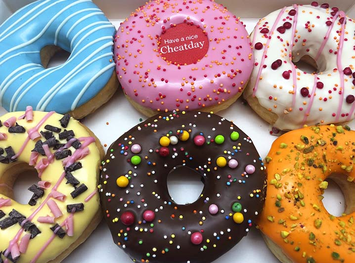 Have a Nice Cheatday Donut box - JJ Donuts