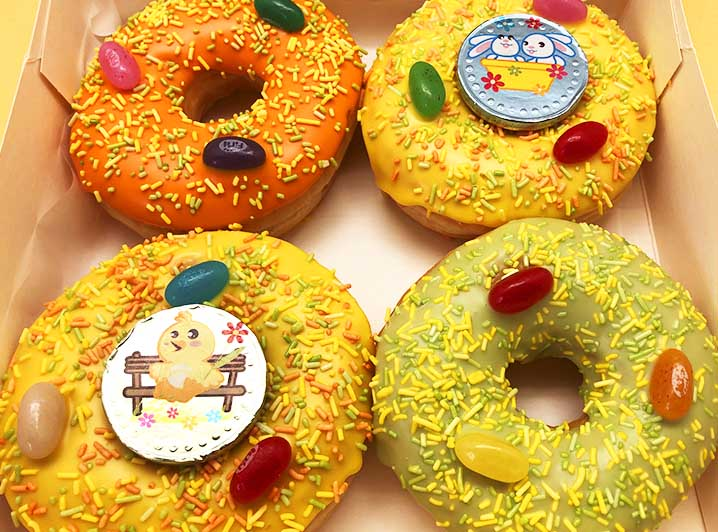 Paas Chocomunten Donut box 2st - JJ Donuts