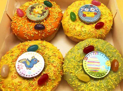 Paas Chocomunten Donut box - JJ Donuts