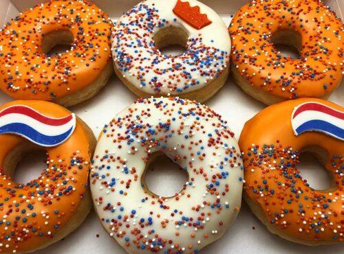 Koningsdag Vlag Donut box - JJ Donuts