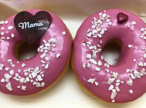Moederdag Double Donut box cerise - JJ Donuts