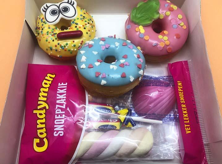 Candy Mini Donut box - JJ Donuts