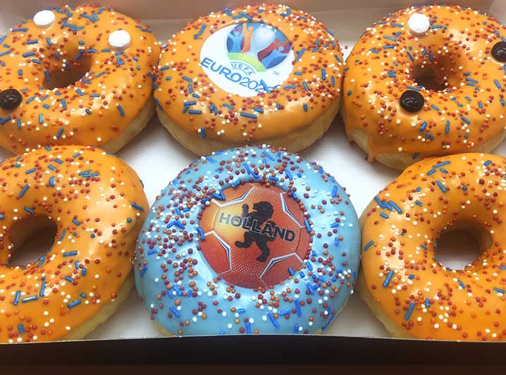 EK Voetbal Donut box - JJ Donuts