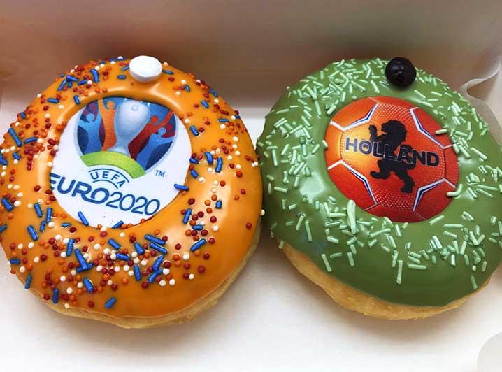 EK Voetbal Duo Donut box - JJ Donuts